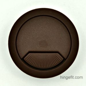 Cabinet Fittings cable entry caps brown 60mm