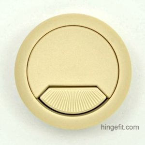 Cabinet fittings cable entry caps beige