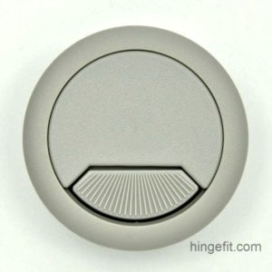 Cabinet fittings cable entry caps grey 60mm