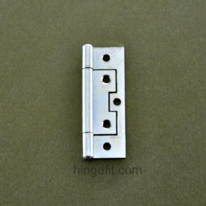 Hinge Non Mortice 75mm Flat ZP