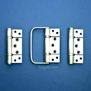 Bifold hinge set non mortice with handle